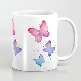 Butterflies Watercolor Abstract Splatters Coffee Mug