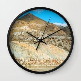 Landscape desert in Almeria, Andalusia, Spain Wall Clock