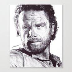 Rick Grimes (The Walking Dead) Pen Drawing  Canvas Print