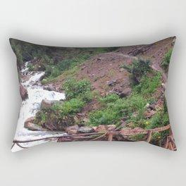 Alpine Bridge Adventure Rectangular Pillow