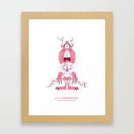 J is for Jabberwock Framed Art Print