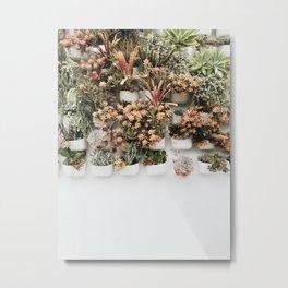 Wall Plants 2 Metal Print