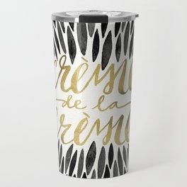 Crème de la Crème – Black & Gold Travel Mug
