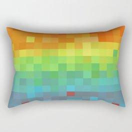 Pixel Rainbow Rectangular Pillow