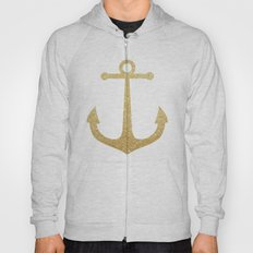 Gold Glitter Anchor Hoody
