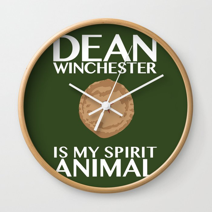 Dean Winchester Is My Spirit Animal Wall Clock By Electricshotgun