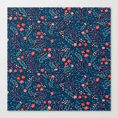 Teeny Tiny Floral Blue Canvas Print
