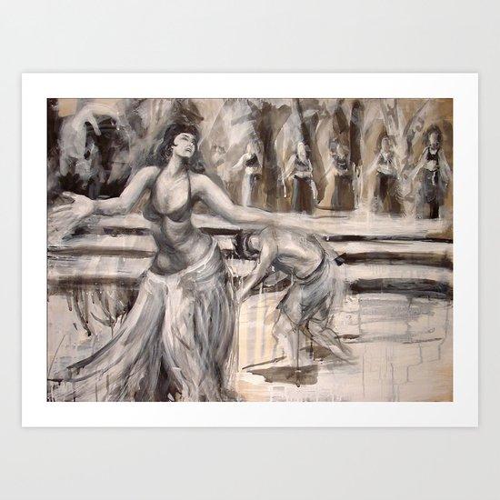 Linda Carter as the Queen of Sheba Art Print