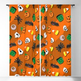 Halloween Spooky Candies Party Blackout Curtain