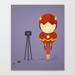 The Flash: My camera hero! Canvas Print