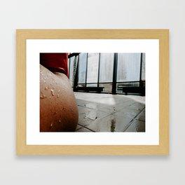At The Pool Framed Art Print