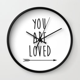 You Are Loved Printable Art, Nursery Art, Black and White Art, Arrow Art, You are So Loved Word Art, Wall Clock
