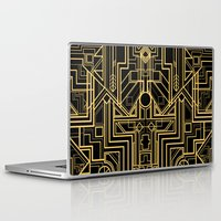 gatsby Laptop & iPad Skins featuring Art Deco Gatsby by ATELOPHILIA DESIGNS