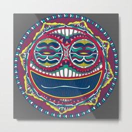 Adrenaline Mask Multicolor Metal Print