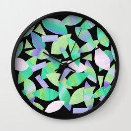 Leaf Litter (dark) Wall Clock