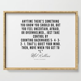 4  | Mel Robbins Quotes | 190802 Serving Tray