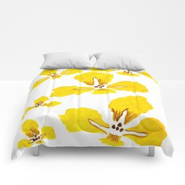 Yellow Iris Comforters