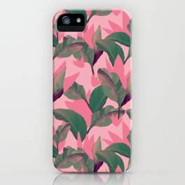 Retro Luxe Lilies Pink iPhone Case