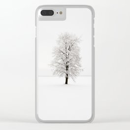 lonely tree .  snow. Clear iPhone Case