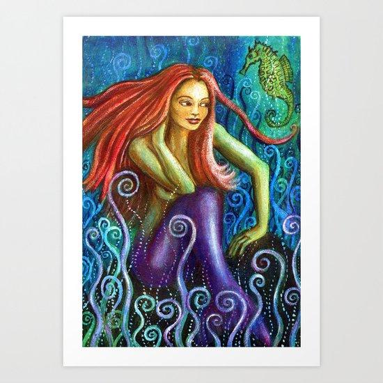 Mermaid Serena Art Print