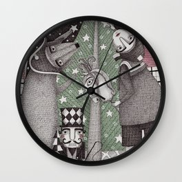 Of Snow and Stars and Christmas Wishes Wall Clock