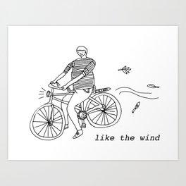 Like the wind Art Print