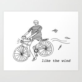 Like the wind Art Print