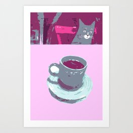 Coffee with Henry #6 Art Print
