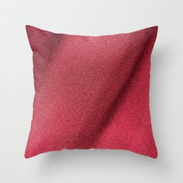 Red Polyester clothing texture. Throw Pillow
