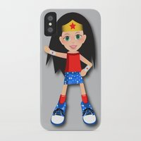 girl power iPhone & iPod Cases featuring Girl Power by Vannina
