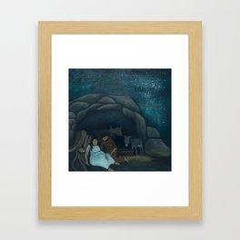 Mary in Labor Framed Art Print