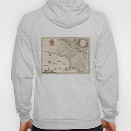 Vintage Map of Campania Italy (1662) Hoody