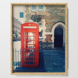 Red phone booth Serving Tray