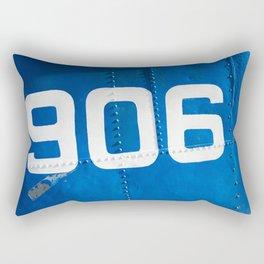 906 blue Rectangular Pillow