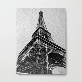 The Eiffel Tower, Paris BW Metal Print