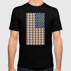 Plaid Flag. Black MEDIUM Mens Fitted Tee