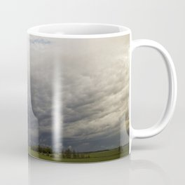 Approaching Storm Over Farmland Coffee Mug