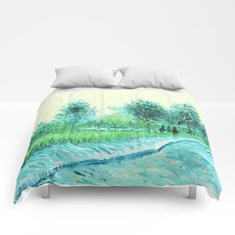 Van Gogh : Park in Asnieres Comforters