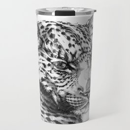 Leopard (Black & White) Travel Mug