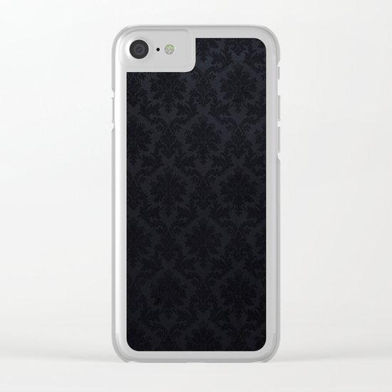 Black damask- Elegant and luxury design Clear iPhone Case
