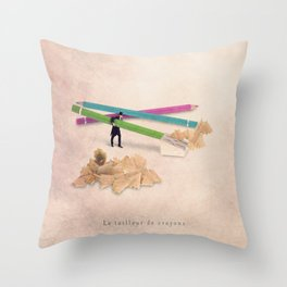 The pencil sharpener Throw Pillow