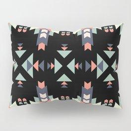 Southwestern Aztec Tribal Inspired Teal Blue Pink Pattern Pillow Sham