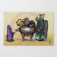 Use Verb on Noun #5: Day of the Tentacle Canvas Print