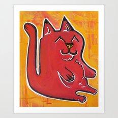 Happy Cat Art Print