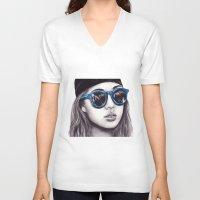 coachella V-neck T-shirts featuring Coachella  by Bella Harris