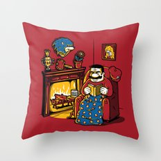 A Quiet Evening at Home Throw Pillow