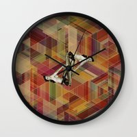 pin up Wall Clocks featuring Pin Up by Spyck