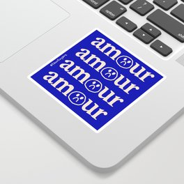 l'amour en bleu Sticker