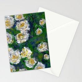 White flowers - Botanical Stationery Cards