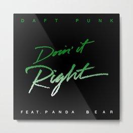 Daft Punk Doin' it Right Metal Print